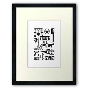 icons-of-melbourne-framed-artwork