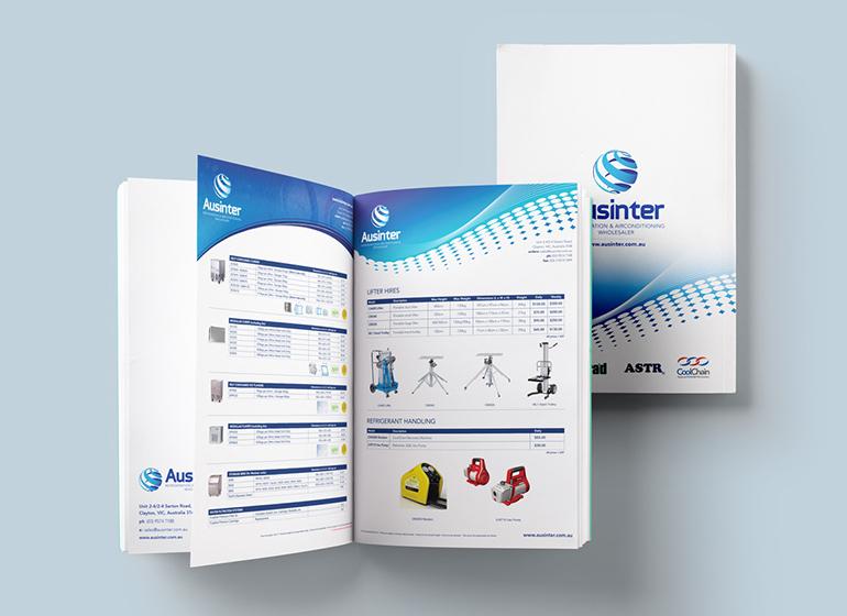 Ausinter catalogue design creative projects aus for Product design melbourne