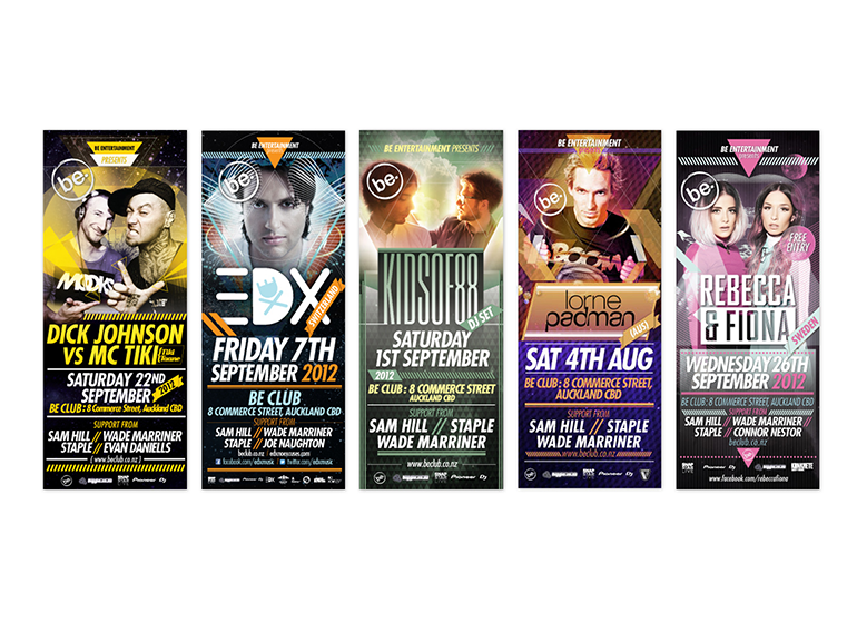 Be-club-gig-banners