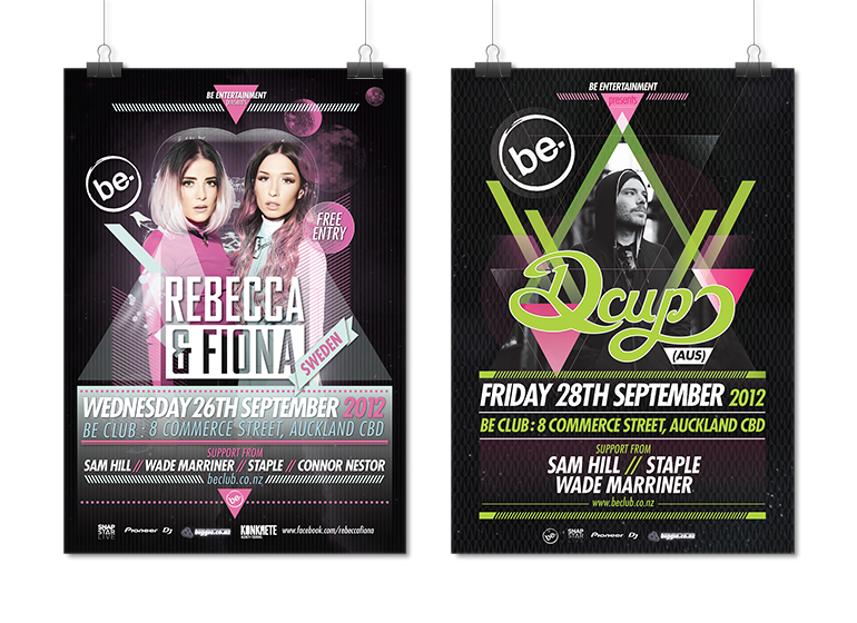 Be-club-gig-posters